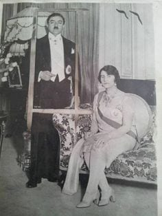 King Amanullah Khan & his wife Soraya Tarzi